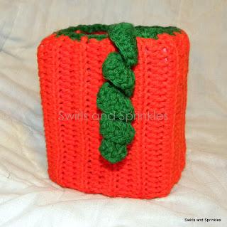 Swirls and Sprinkles: Crochet pumpkin tissue box Kozie pattern