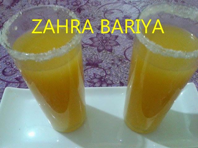 عصير.المشمش.والليمون.الحامض.للاخت.ZAHRA.BARIYA
