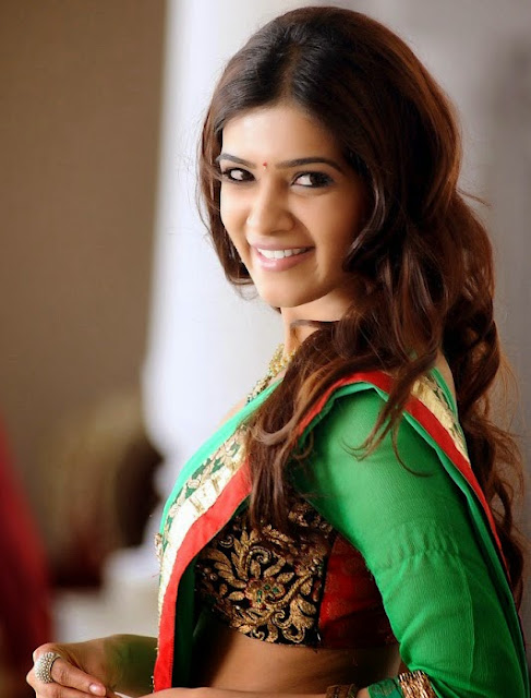 Samantha Ruth Prabhu in Gorgeous Green saree Lovely Pics