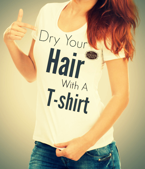 How to dry your hair with a tshirt instead of a towel by barbies beauty bits