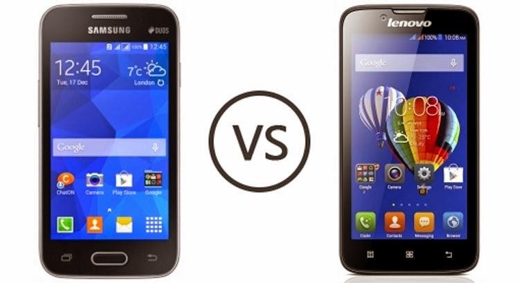 Perbandingan HP Lenovo A328 vs Samsung Galaxy V, Ponsel KitKat Rp.1 Jutaan