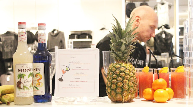 Mocktail bar at H&M Cardiff launch event