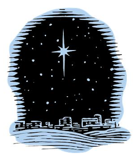 Star shining over Bethlehem