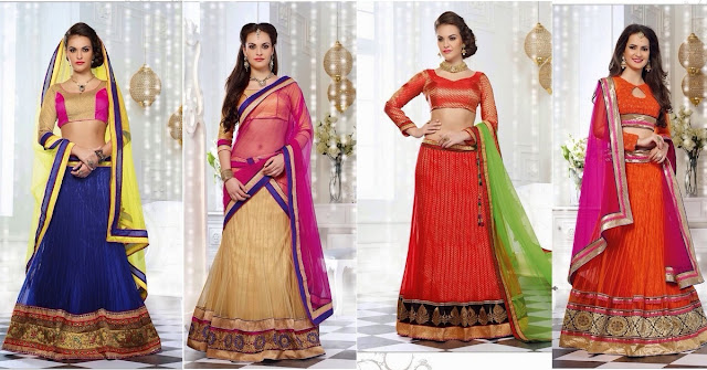 Best lehengas collection for Party wear at Moksha Fashions