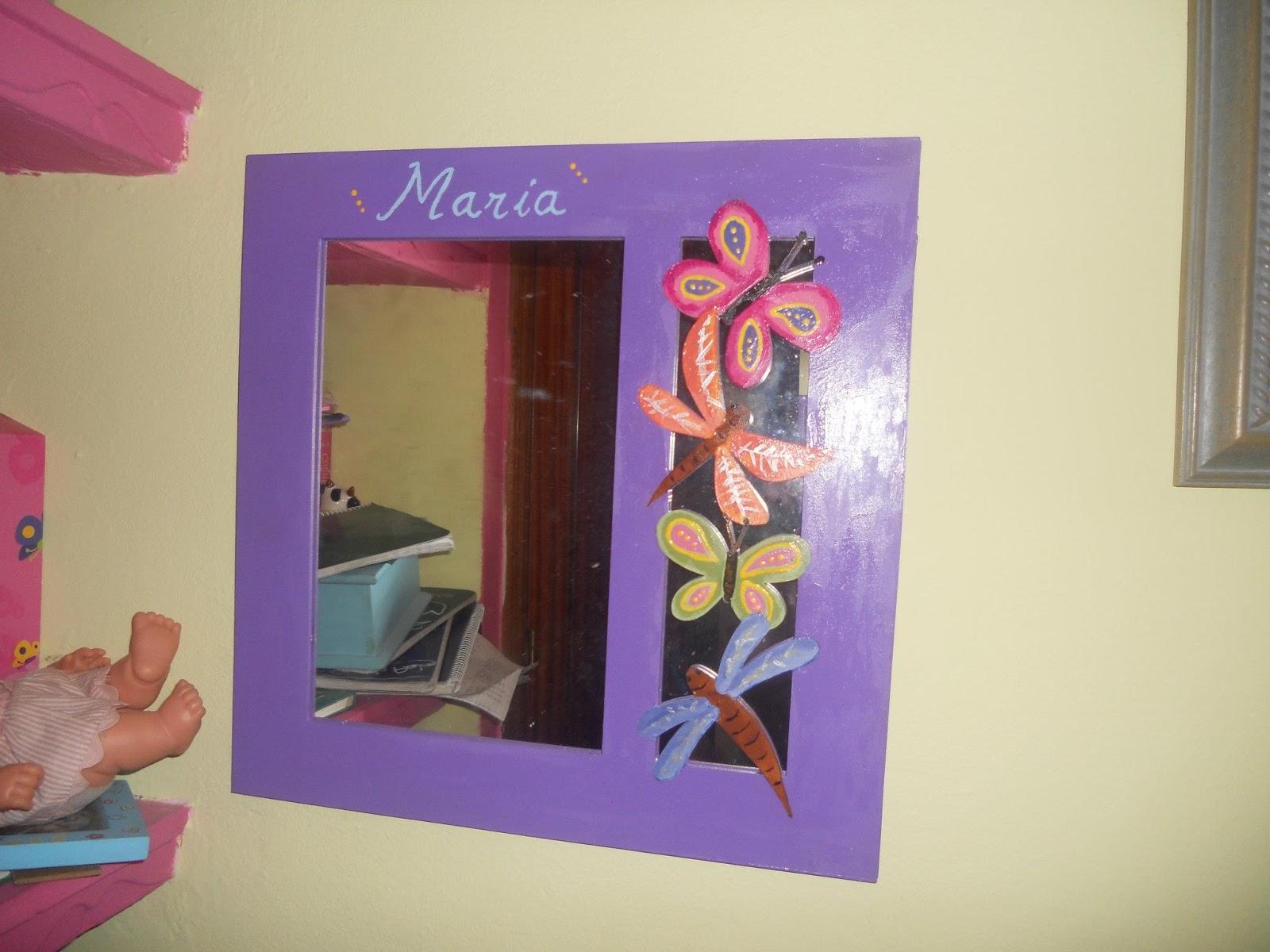 Carmen manualidades y camisetas espejos personalizados - Espejos decorados a mano ...