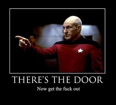 Captain Picard GTFO Meme