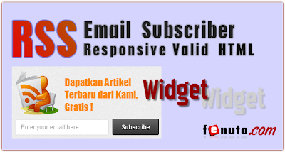 Cara Pasang Beautiful RSS Email Subscriber Blogger