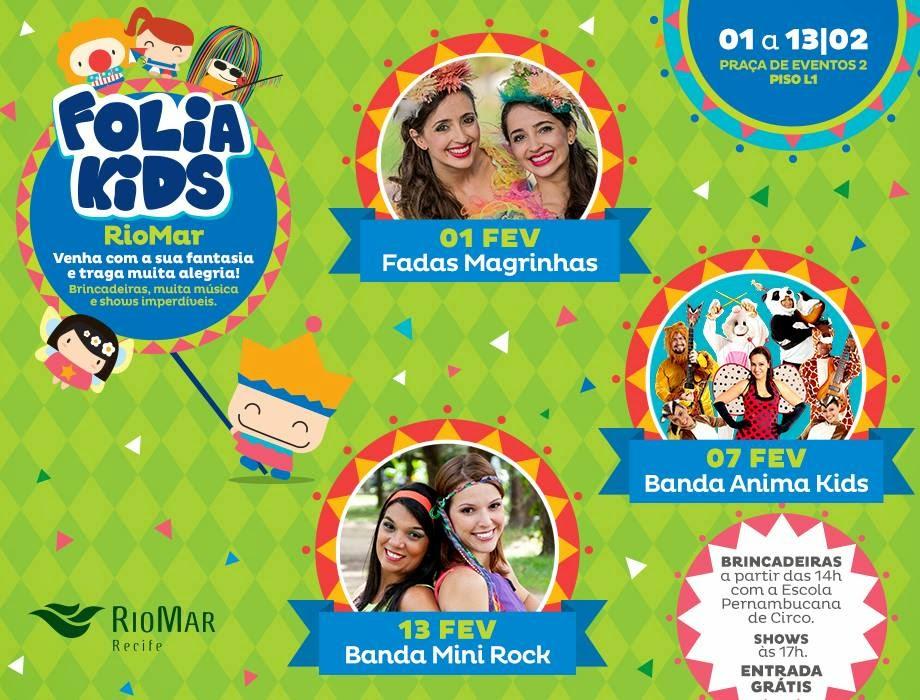 Carnaval para crianças shopping RioMar Recife