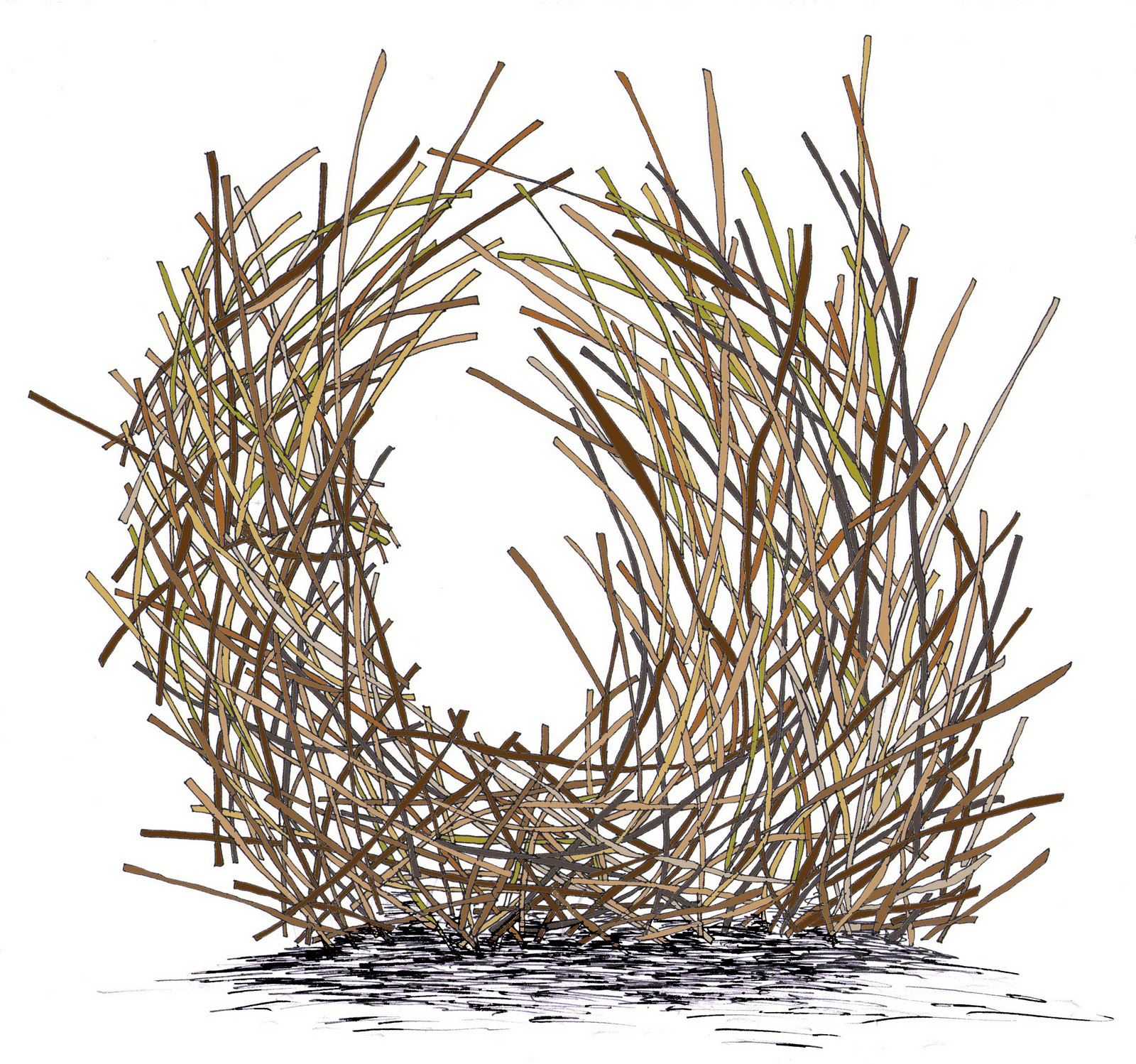 How to draw a NEST for kids - YouTube