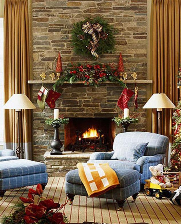 decoracao de sala natal : decoracao de sala natal:Ambientes e Decoração: Uma sala com decoracao especial para o natal