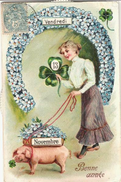 Carte postale ancienne Porte Bonheur