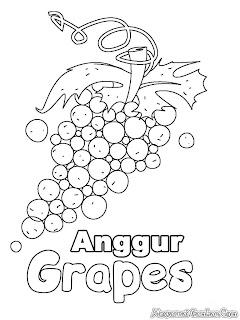 Gambar Mewarnai Buah Anggur Untuk Anak-Anak