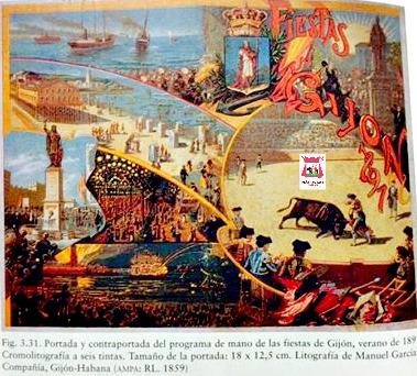 GIJON CORRIDAS DE TOROS 1891