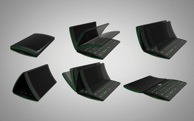Concept 3 trois ecrans tactile flipphone