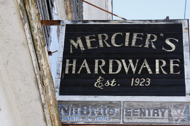 photo of Mercier's Hardware sign