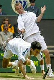 smešna slika teniskih partnera