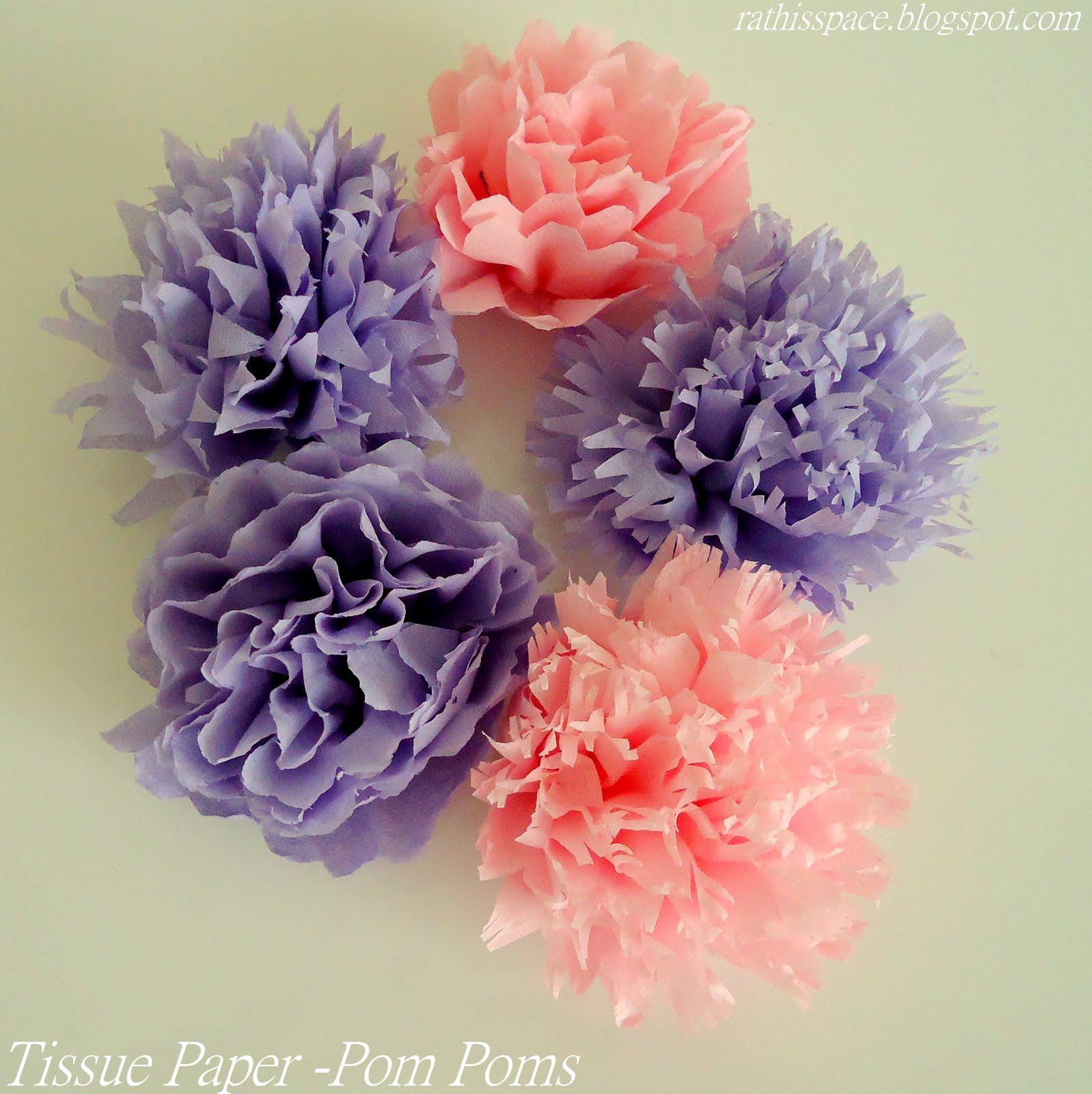 how to tissue paper pom poms