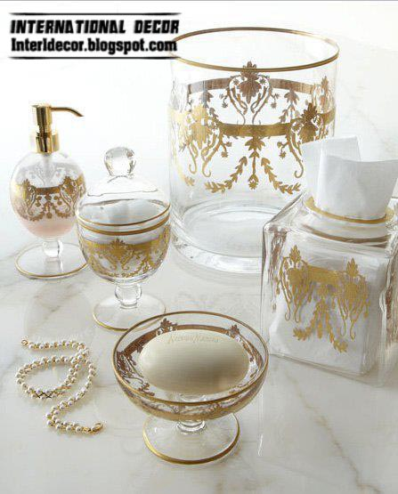 Stylish bathroom accessories sets colors pieces for Bathroom accessories glass