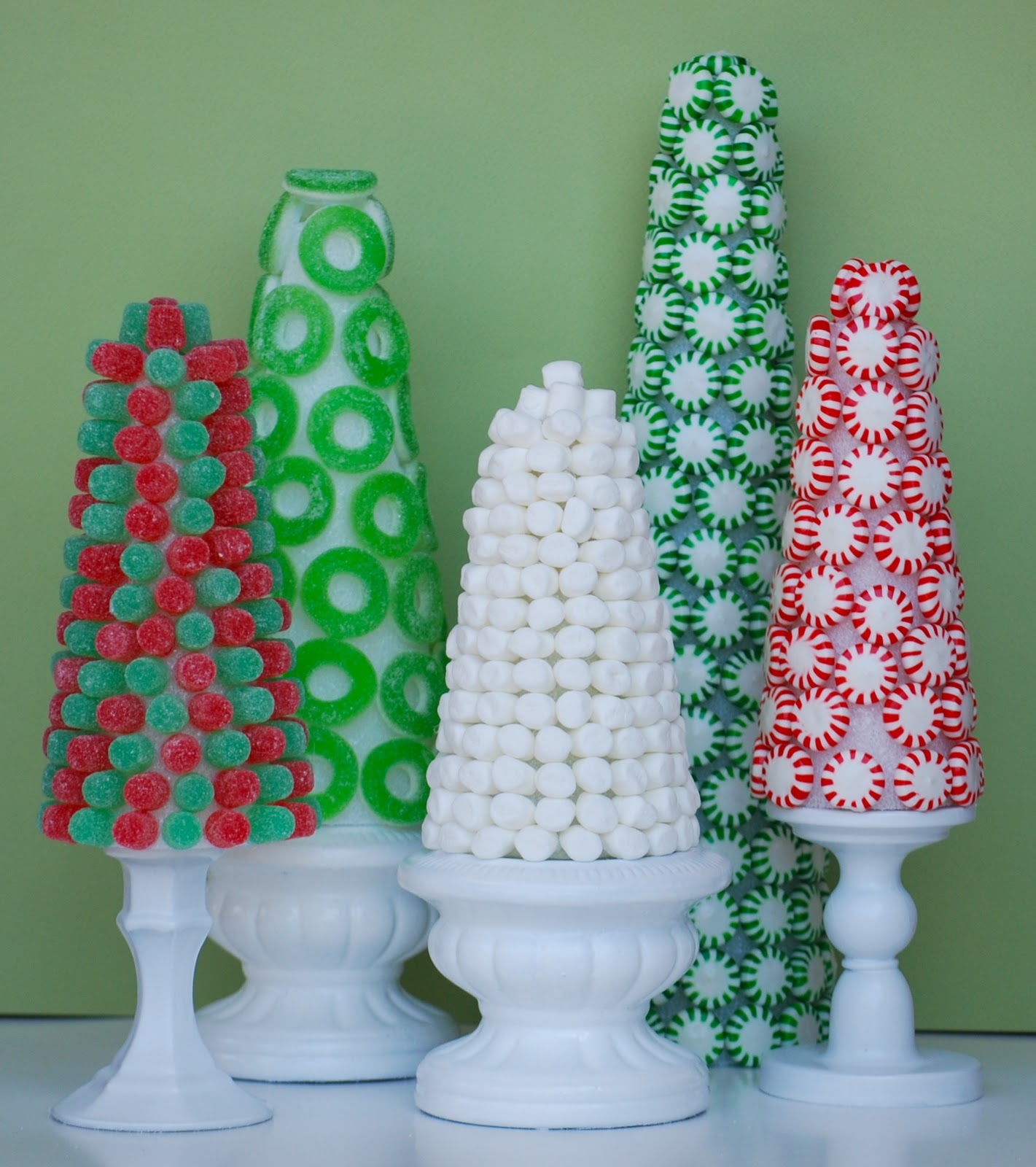 christmas candy trees my grandmother used to have gumdrop trees similar to these at christmas every year and i made my first ones nearly 8 years ago when