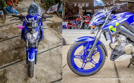 gambar New Yamaha Vixion Advance Movistar MotoGP