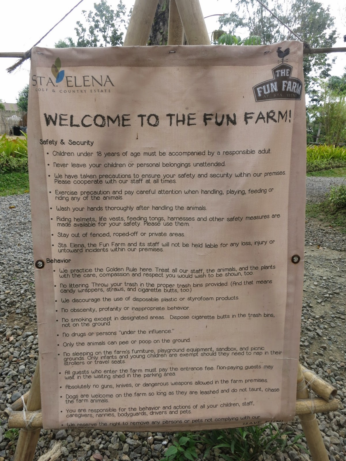 Sta Elena Fun Farm Safety & Security