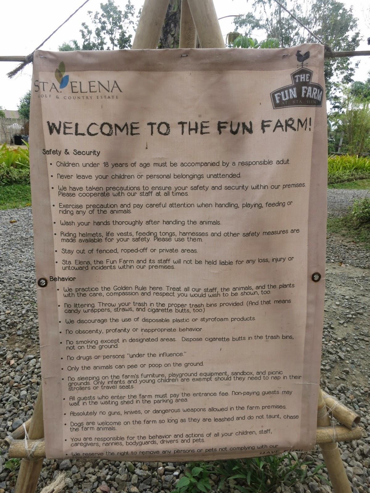 Sta Elena Fun Farm Safety & Security