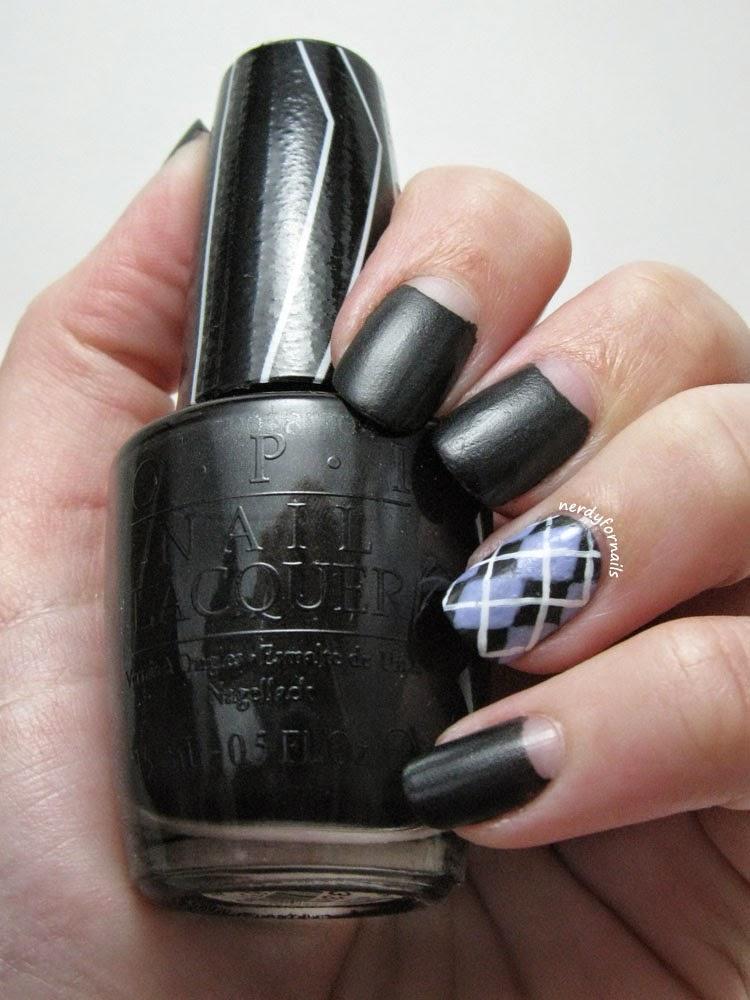 Clinton Kelly at Macy's Fresno- Clinton Inspired Nails- Matte Argyle Half Moons