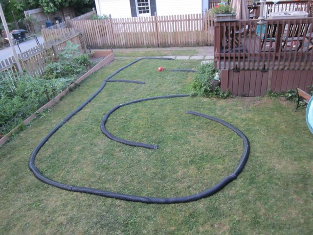 gallery for backyard rc track layout