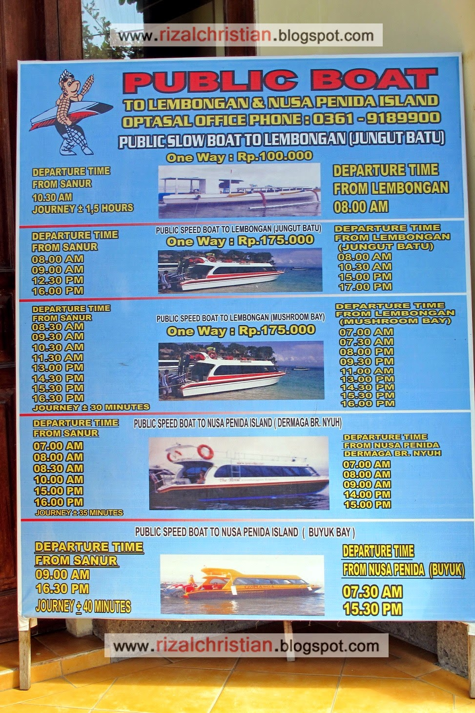 Rizal Christian Trip Report Nusa Lembongan Padang Bai Ubud