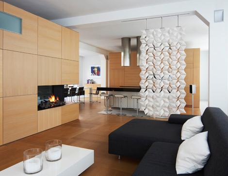 Decoraci n minimalista y contempor nea biombos colgantes - Separadores de ambientes ...