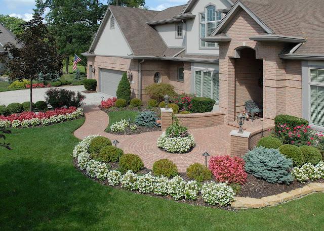 Beautiful front yard Floral arrangement