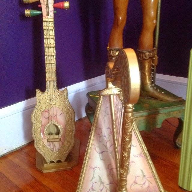 #thriftscorethursday Week 24   Instagram user: Urvintagegirl shows off these ornate musical instruments