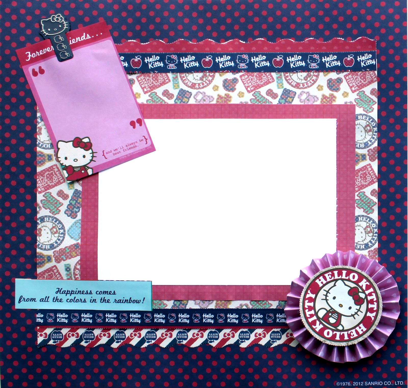 Scrapbook ideas hello kitty - With A Great Selection Of Coordinating Patterned Papers And Embellishments You Can Create Pages Cards Gift Bags And Tags Picks Memo Clips