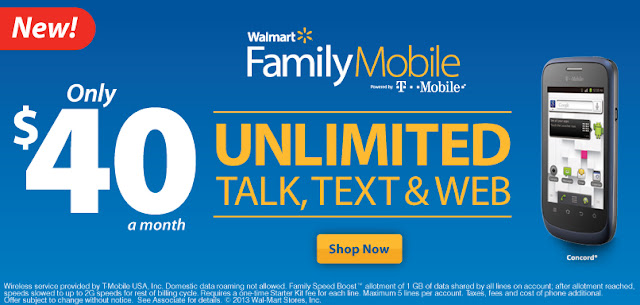 Walmart Family Mobile Unlimited Talk, Text & Web