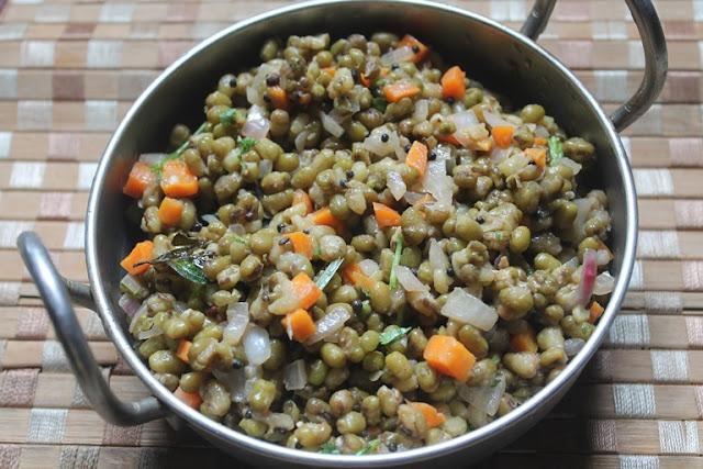 Green Gram Vegetable Chaat Recipe