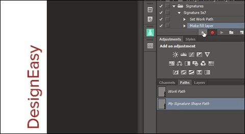 Stop recording action in Photoshop
