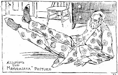 Drawing in an article about yoga, New York Herald, March 27, 1898