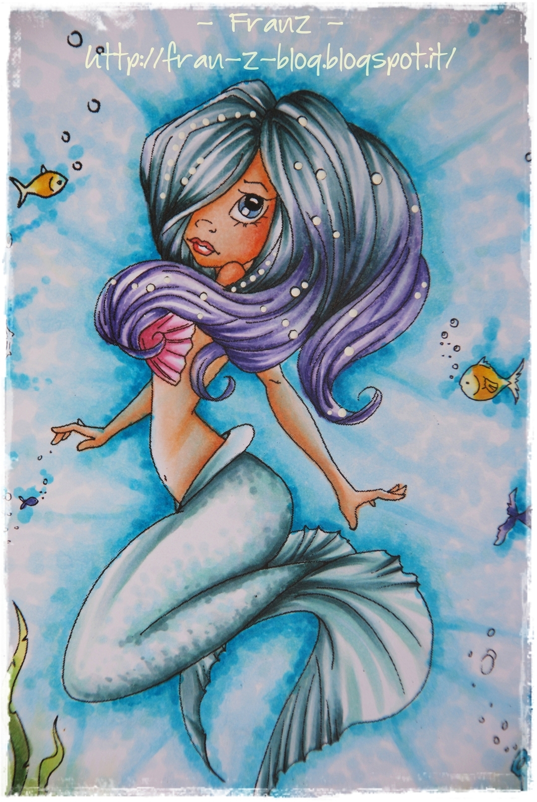 Copic Marker Europe: Pearl the mermaid from Saturated