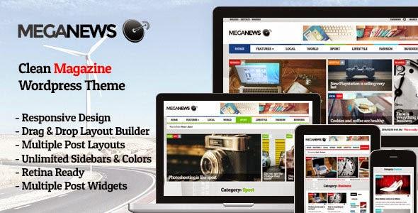 Meganews Magazine Responsive WordPress Theme Download Free [Current Version 1.5]