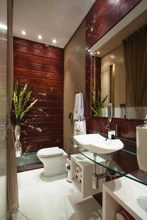 decorar lavabos redondos : decorar lavabos redondos:Mix de texturas – madeira, mármore, vidro, concreto, tecido – agregam