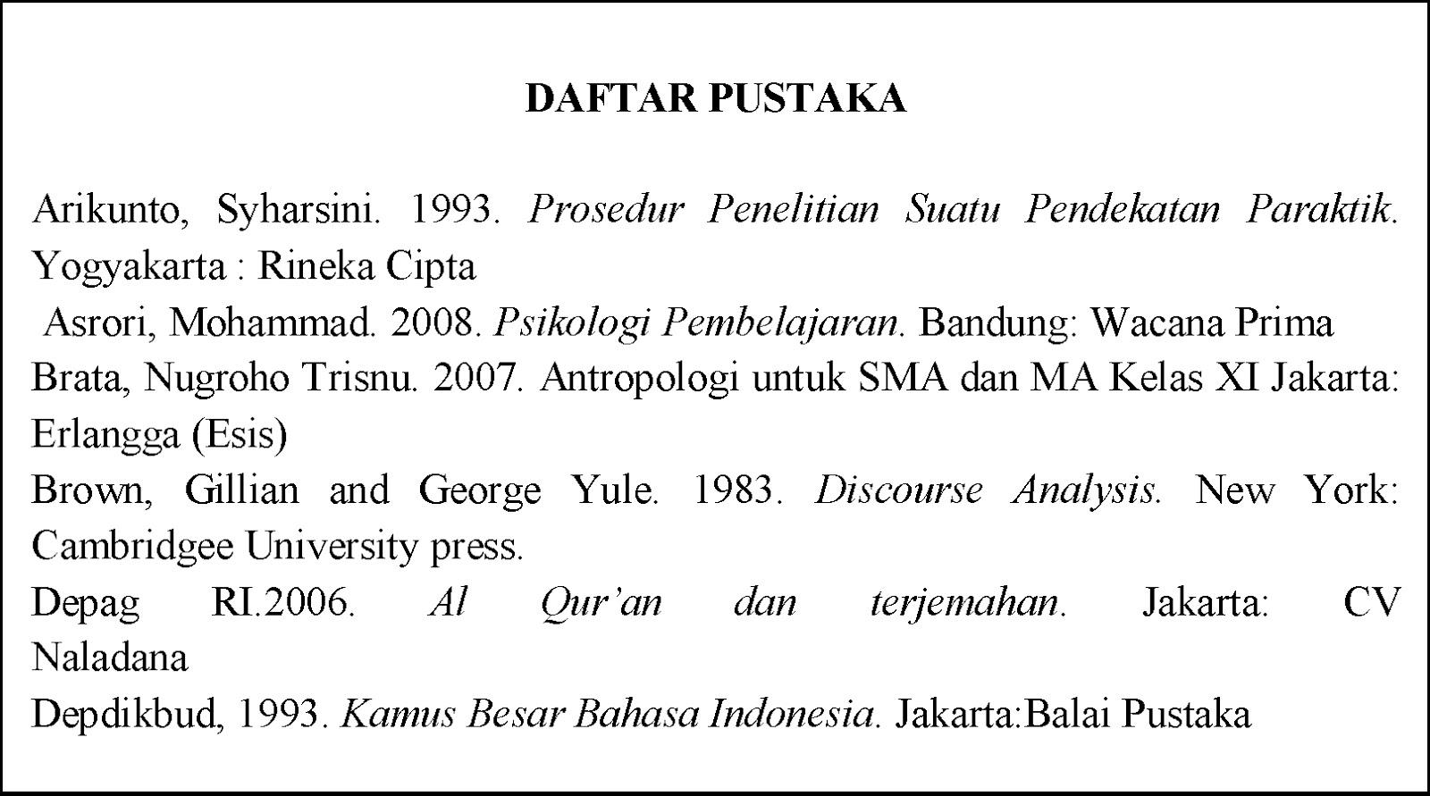 "Daftar Pustaka karya ilmiah yangberjudul ""Pengaruh Budaya Ahad"