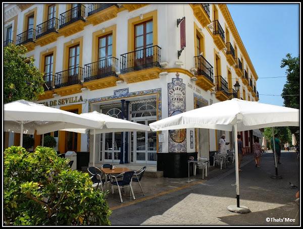 Séville Andalousie café Hotel Puerta de Sevilla