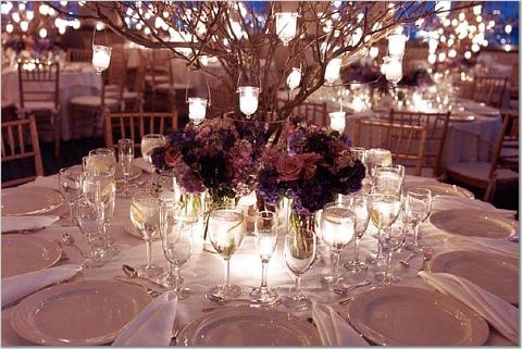 Wedding inspiration Manzanita branches centerpieces