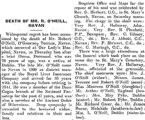 Robert O'Neill, (1878-1957), Dublin, Navan