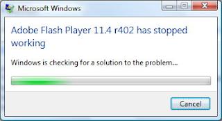 Trik Mengatasi Adobe Flash Player Has Stop Working