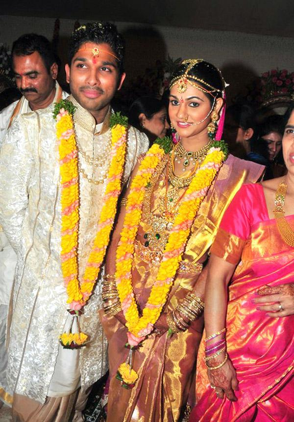 Allu Arjun And Sneha Reddy Marriage Photos Bunnys Without Watermark
