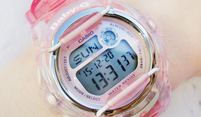 baby-g, pink watch, casio
