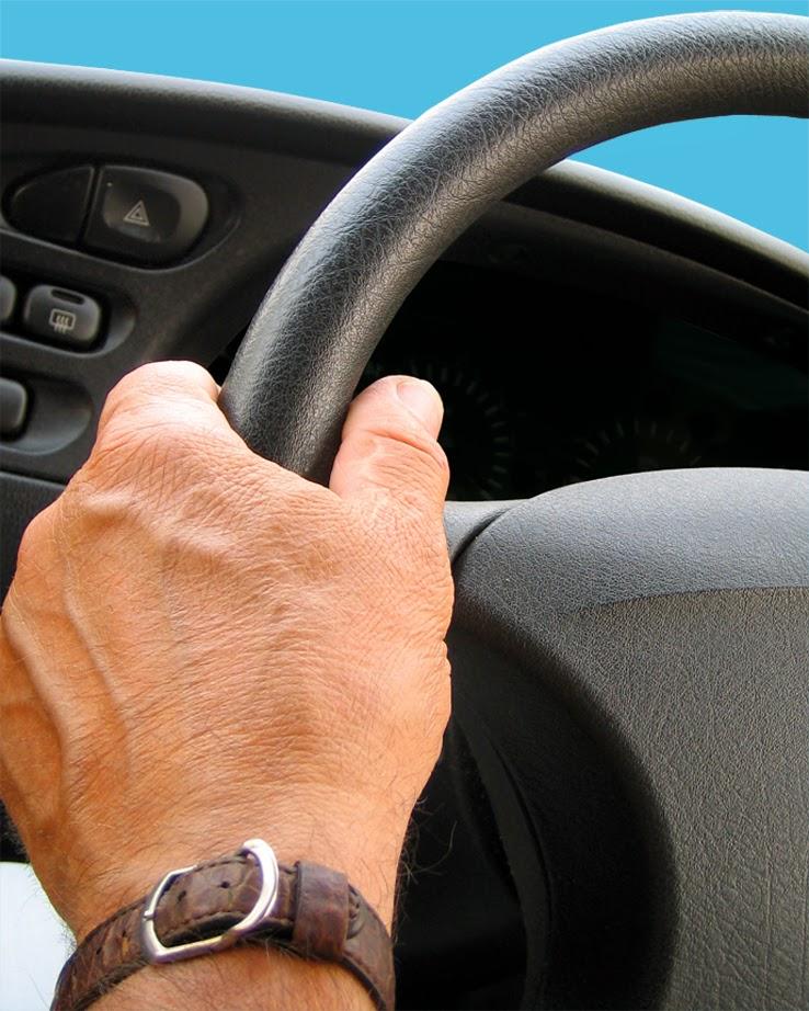 hand, steering wheel