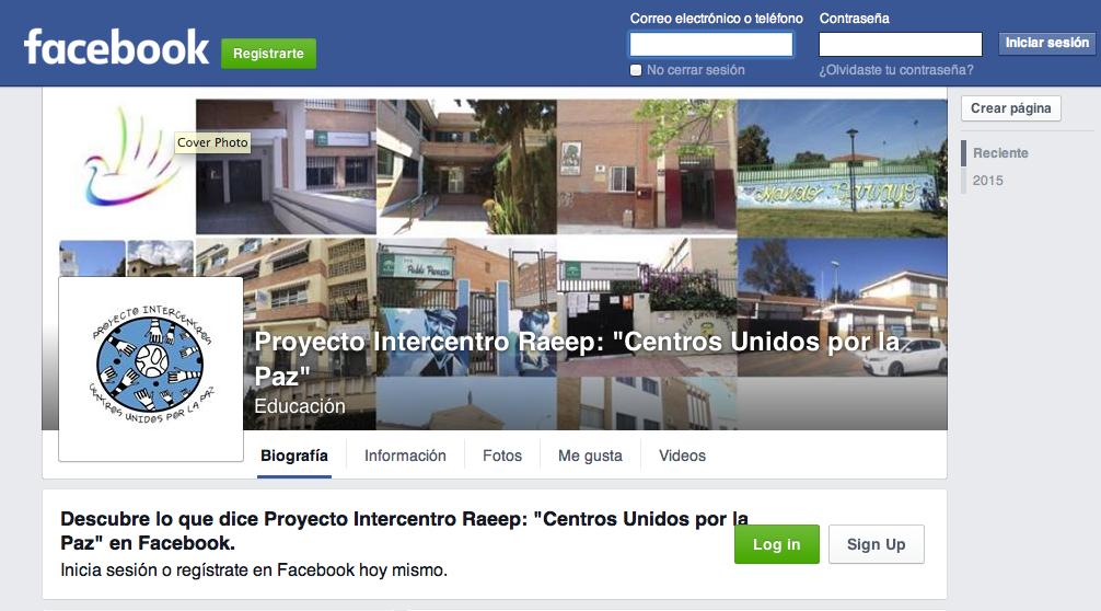 Facebook Centros unidos por la Paz