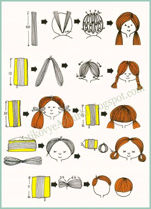 Как сделать причёску для куклы